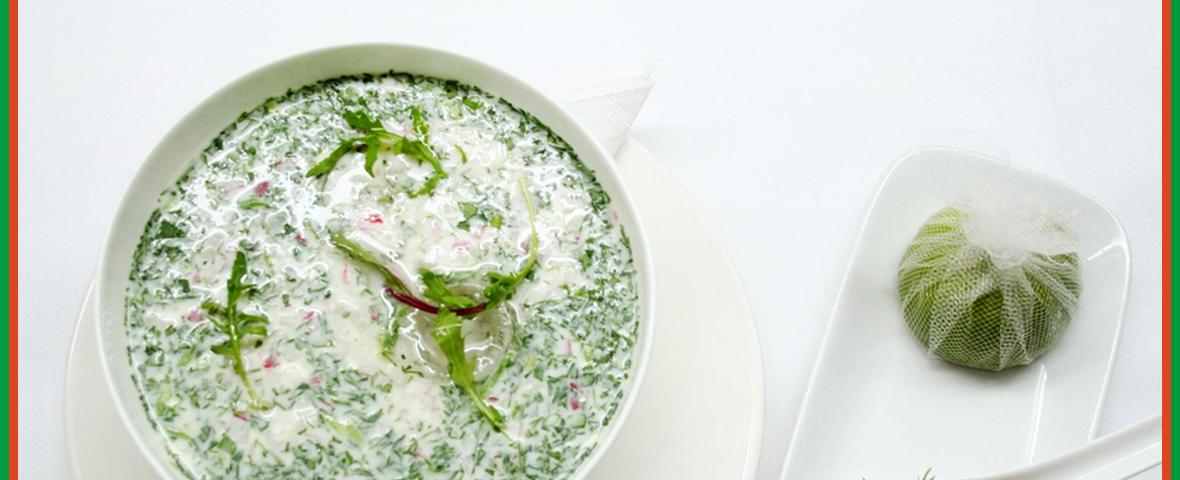 Классический рецепт холодного блюда окрошка на айране